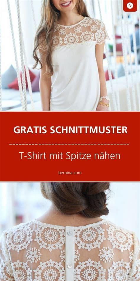 einfaches t shirt mit spitze n 195 164 hen schnittmuster kostenlos t shirt sewing pattern