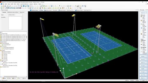 tennis courts lighting design calculations part  youtube