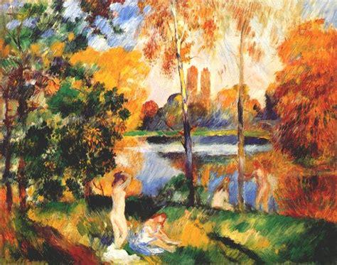 Landscape With Female Bathers C1885 Pierre Auguste