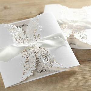 Vintage floral laser cut traditional and classic by giant for Laser cut floral wrap wedding invitations
