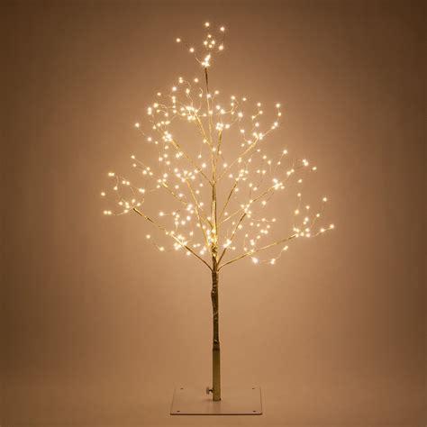gold fairy light led tree