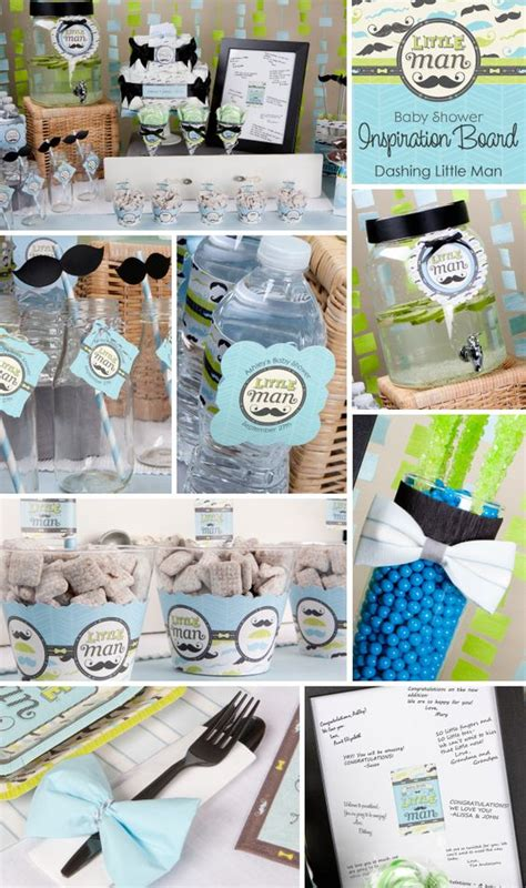 man baby shower decoration ideas mustache party