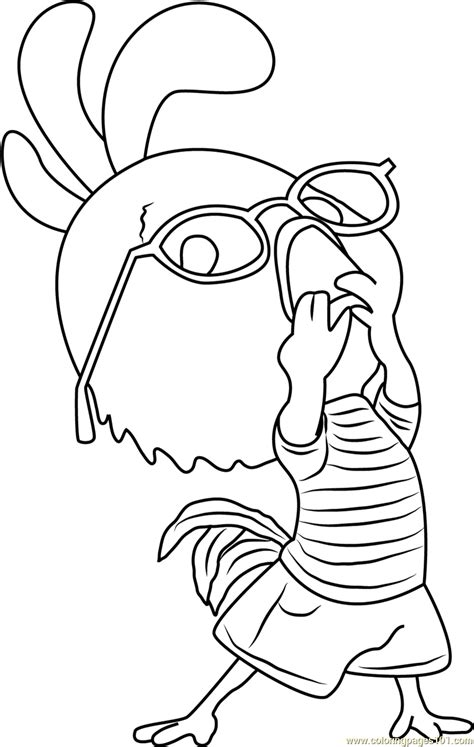 chicken  funny coloring page  chicken  coloring pages coloringpagescom
