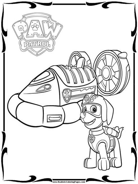 paw patrol coloring print outs coloring pages