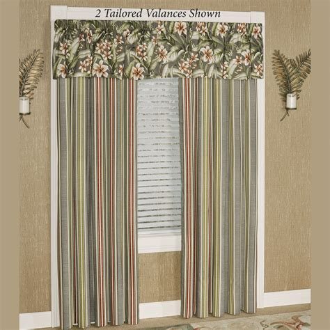tropical lily tailored window treatment