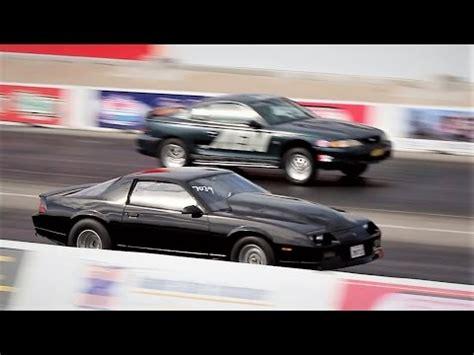 Mustang Vs Camaro Drag Race by 4th Ford Mustang Vs 3rd Chevy Camaro Drag Race