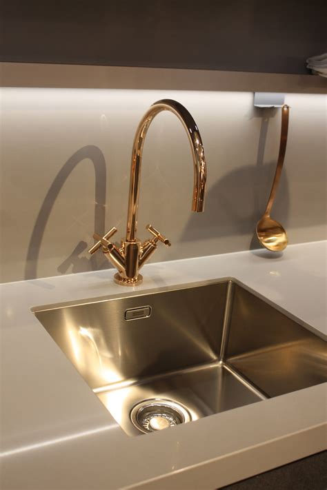 gold kitchen sink faucet new kitchen sink styles showcased at eurocucina