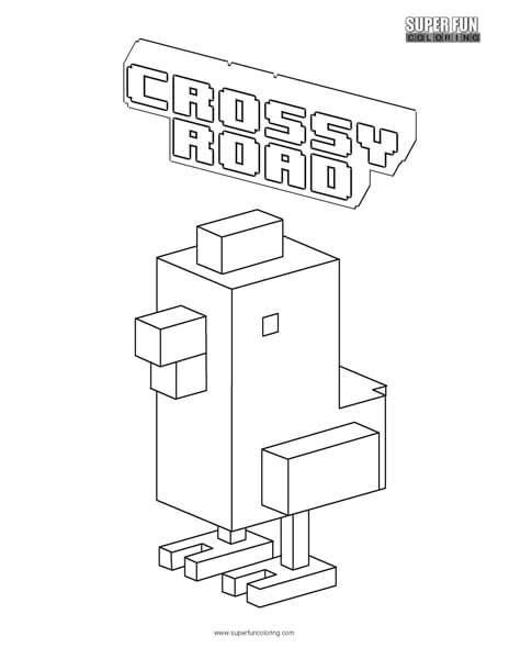 crossy road coloring page super fun coloring pages