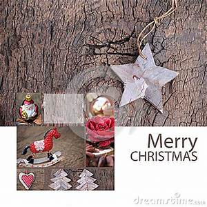 Merry Christmas Greeting Card Nature Stock Image