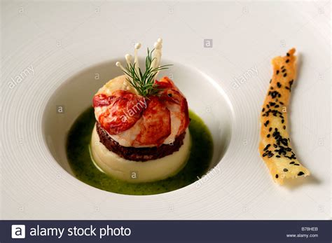 haute cuisine quot apéro quot breton lobster blackpudding and potato puree