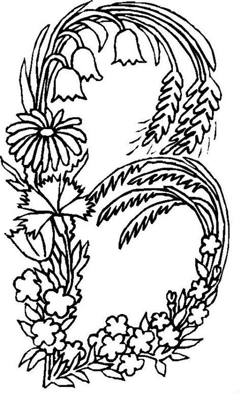 Kleurplaat Flower by N 26 Coloring Pages Of Alphabet Flowers