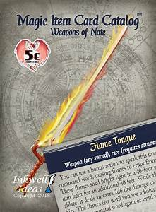 Index Card Print Magic Item Card Catalog 5e Weapons Of Note Inkwell Ideas