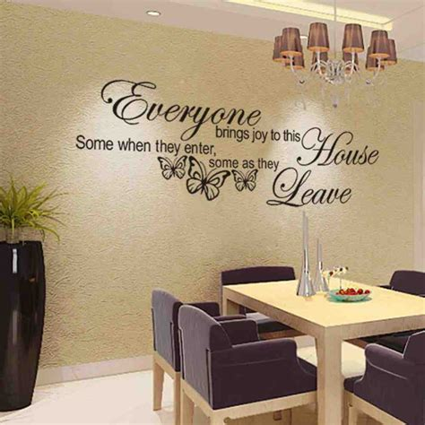 wall decal quotes  living room decor ideas