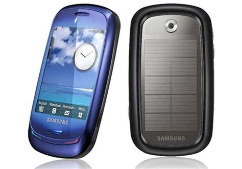 solar powered phone samsung releases solar powered phone inhabitat