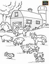 Coloring Farms Popular sketch template