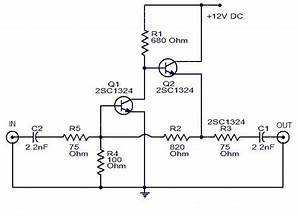 Cable Tv Amplifier Using 2 Transistor