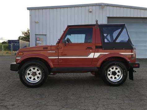 jeep suzuki samurai for sale suzuki samurai 4x4 rust free 2nd owner must see