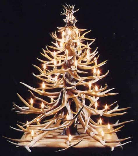 antler christmas tree antler christmas trees pinterest
