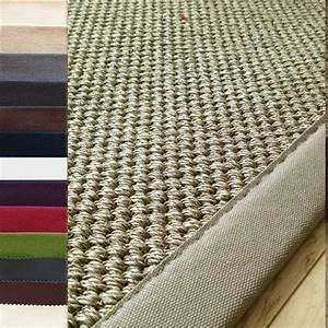 tapis en sisal ganse tresse naturel personnalisable With tapis en sisal