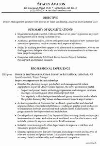 resume for project management susan ireland resumes With leadership resume examples