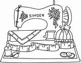 Coloring Sewing Machine Pages Getdrawings sketch template