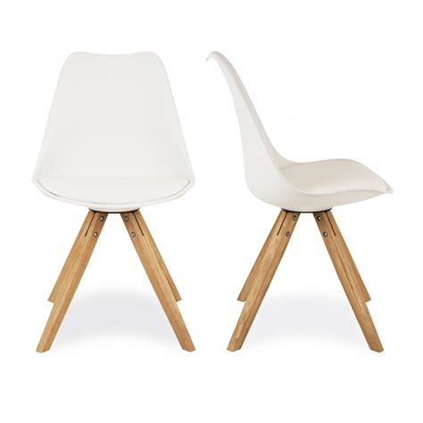 charles eames x2 style white dining chairs with pyramid