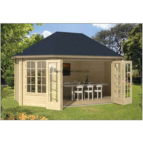 bureau de jardin en kit chalet bois en kit bureau de jardin gudrun bois 45mm