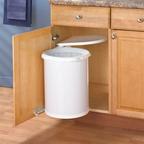 Cabinet Garbage Cans by Kitchen In Cabinet Sink Trash Can Waste Basket Lid