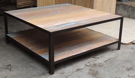 table basse fer bois table salon en bois maisonjoffrois