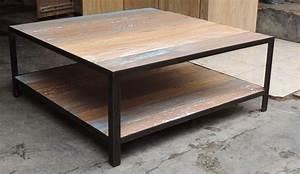 Table Basse Fer Et Bois : table basse fer bois table salon en bois maisonjoffrois ~ Teatrodelosmanantiales.com Idées de Décoration