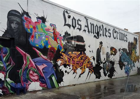 los angeles crimes wall mural la by hodg3podg3 on deviantart