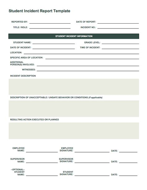 truck driver accident report form template incident report form free download elsevier social