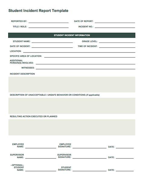 incident report form template free incident report templates smartsheet