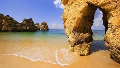 Algarve Portugal Coast Caves Beaches Beach Cave