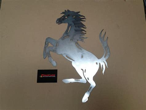 ferrari prancing horse metal wall art decal cnc plasma cut