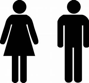 Male and female toilet signs stickers standard door for Male female bathroom sign images