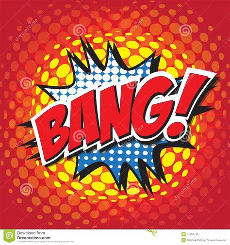 Bang Comic Word Stock Vector Image