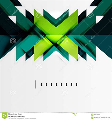 Abstract Minimal Shapes by Futuristic Blue And Green Color Shapes Stock Vector