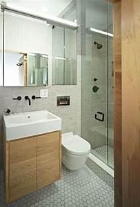 Petite salle de bain 34 photos idees inspirations for Petit salle de bain moderne