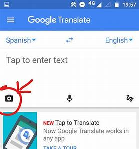How to translate the text on an image with google for Translate my document to spanish