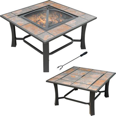 Axxonn 2in1 Malaga Square Tile Top Fire Pitcoffee Table