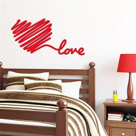sticker mural chambre stickers muraux pour chambre sticker mural amour de
