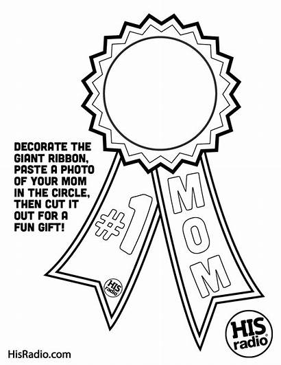 Coloring Pages Mothers Christian Mother Mom Ribbon