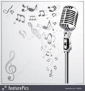 Music: Musical Background With Retro Microphone - Stock ...