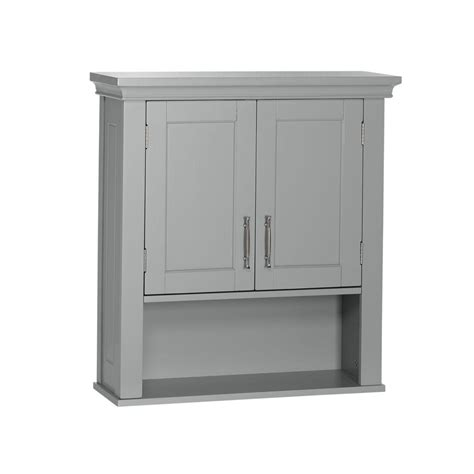 grey bathroom wall cabinet riverridge home somerset collection 22 1 2 in w x 24 1 2