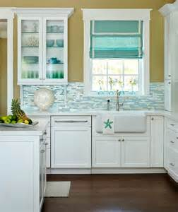 turquoise blue white beach theme kitchen paradise