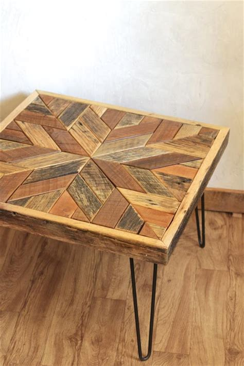 pallet coffee table  star pattern top pallet