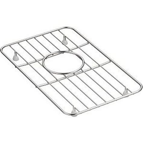 kohler stainless sink protectors kohler k 5874 st whitehaven small basin rack stainless