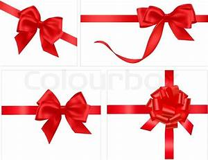 Big collection of gift bows. Vector. | Stock Vector ...