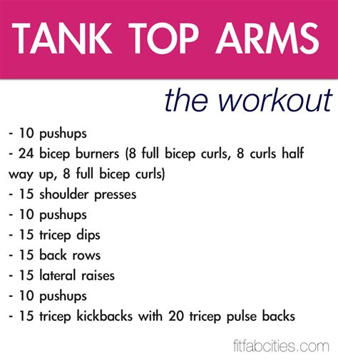 printable arm workout poster popsugar fitness